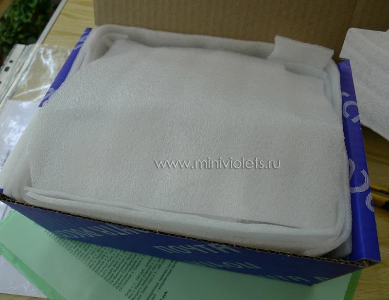 Упаковка черенков фиалок